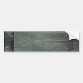 Green riveted steel texture bumper sticker