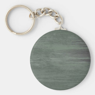 Green riveted steel texture basic round button key ring