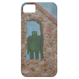 GREEN ROBOT RETRO matte finish by Jetpackcorps iPhone 5 Covers