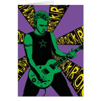Green Rockin Birthday Card
