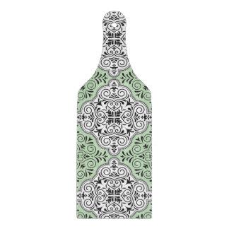 Green Rococo Pattern Flourish Cutting Board