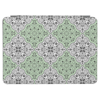 Green Rococo Pattern Flourish iPad Air Cover