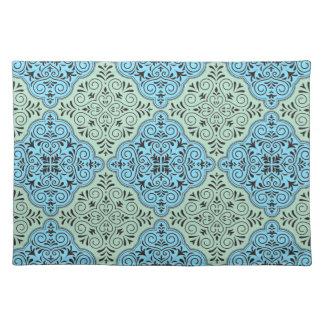 Green Rococo Pattern Flourish Placemat