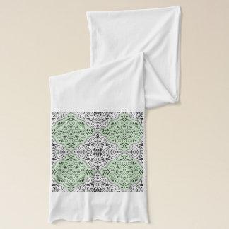 Green Rococo Pattern Flourish Scarf