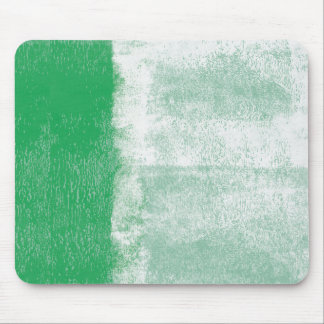 Green rolled paint mouse pad