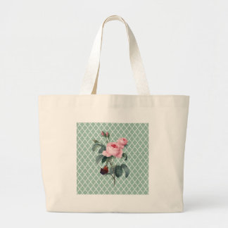 Green Rose Orient Large Tote Bag