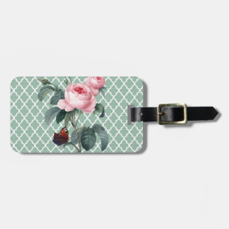 Green Rose Orient Luggage Tag
