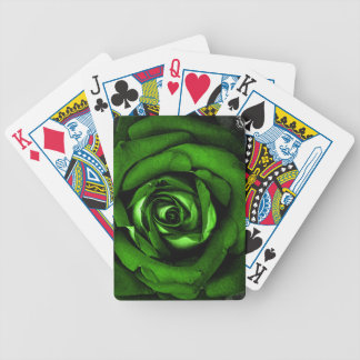 Green Rose Royalty Playing Cards