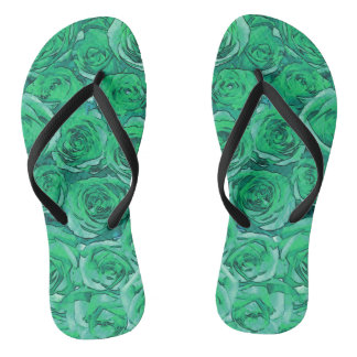 Green Roses Thongs