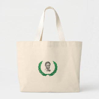 green round lincoln large tote bag