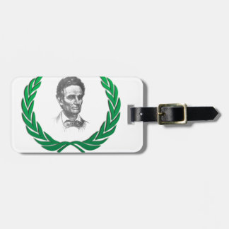 green round lincoln luggage tag
