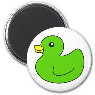 Green Rubber Duck Magnet