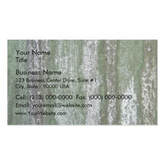 Green Rusty Metal Texture Business Card Template