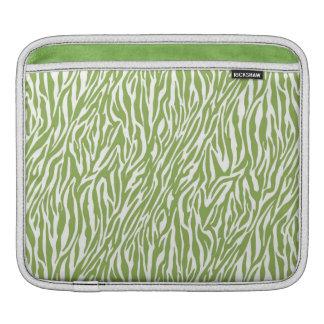 Green Safari Zebra Print iPad Sleeve
