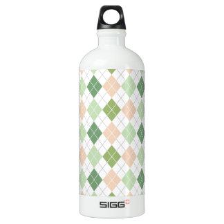 Green, Sage, Peach, White Argyle SIGG Traveller 1.0L Water Bottle