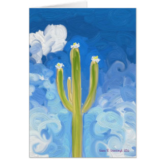 Green Saguaro, Blue Sky Card