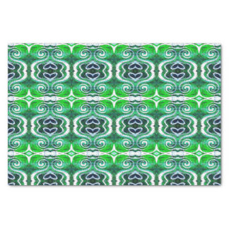 Green Saint Patrick's Day Heart Tissue Paper