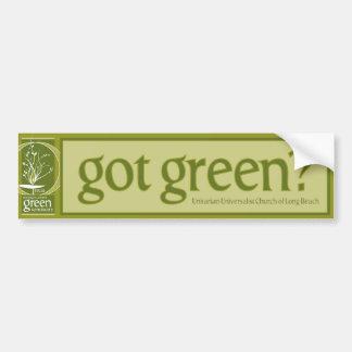 Green Sanctuary Bumper Sticker
