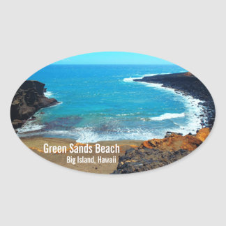 Green Sands Beach Big Island Hawaii stickers