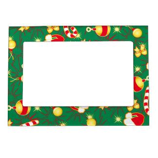 Green - Santa's cap Magnetic Picture Frame