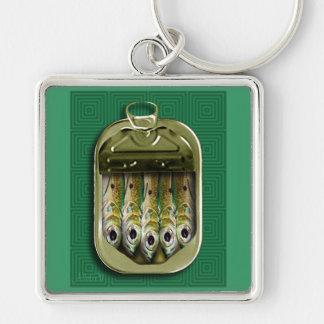 Green Sardines Key Ring