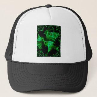 Green Satin fractal Trucker Hat