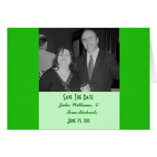 green save the date greeting card