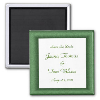 Green Save the Date Magnet
