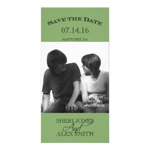 Green Save the Date Photo Cards