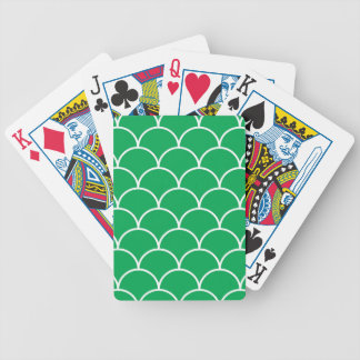 Green scales pattern bicycle playing cards