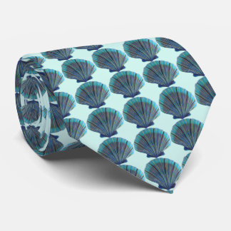 Green Scallop Shells Tie