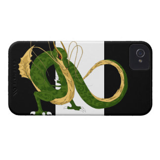 Green Sea Dragon Black and White iPhone 4 Cover