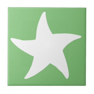 Green Sea Star Ceramic Tile
