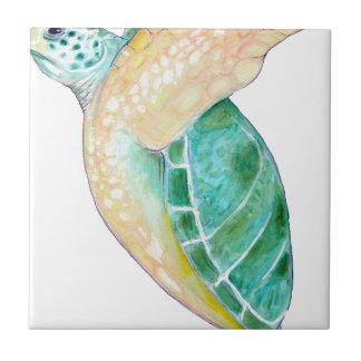 Green Sea Turtle Ceramic Tile