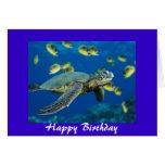 Green Sea Turtle, Happy Birthday Greeting Card