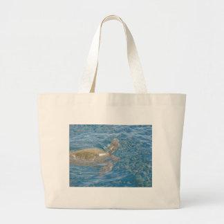 Green Sea Turtle - Hawaii Honu Large Tote Bag