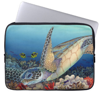 Green Sea Turtle (Honu) Hatchlings Laptop Computer Sleeves