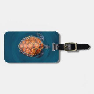Green Sea Turtle Luggage Tag