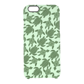 Green Sea Turtle Pretty Animal Pattern Clear iPhone 6/6S Case