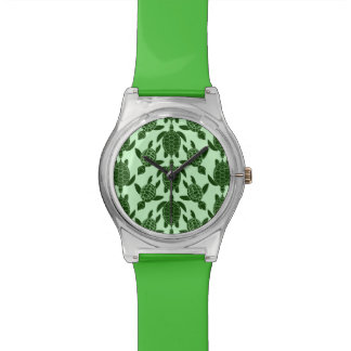 Green Sea Turtle Pretty Animal Pattern Wrist Watch