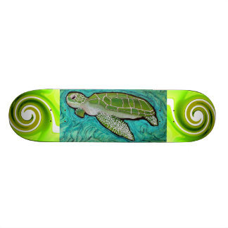 Green Sea Turtle Skateboard