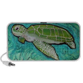Green Sea Turtle iPod Speakers