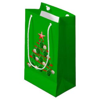 Green Sea Turtles Christmas Tree Small Gift Bag
