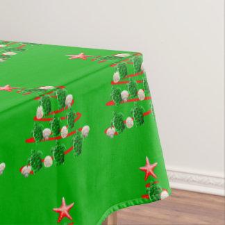 Green Sea Turtles Christmas Tree Tablecloth