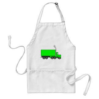 Green Semi-Trailer Truck Standard Apron