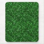 green sequin effect mousepad