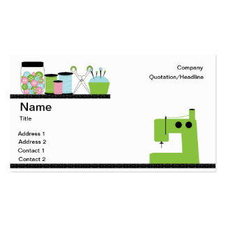 Green Sewing Machine Pack Of Standard Business Cards