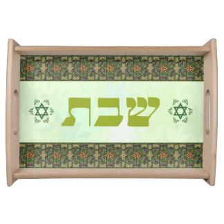 Green Shabbat Tray