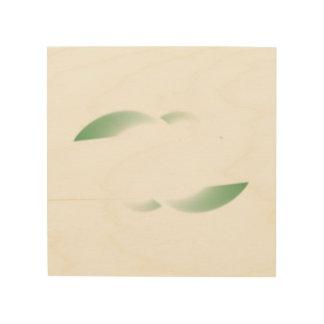 green shades wood wall art
