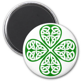 green shamrock celtic knot refrigerator magnet
